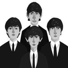 the beatles posters | Austin Eustice - The Beatles Poster! - Illustration They are one of my favorite bands ever!!!