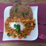 Rode curry met home-made 5-minuten-naanbrood