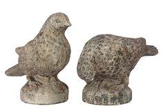 Urban Trends Collection Stone Ware Bird Set Of Two  Gray UTC50756