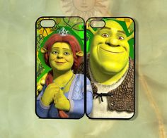 Shrek and Fiona Couple Case-iPhone 5, iphone 4s, iphone 4 case, ipod 5, Samsung GS3-Silicone or Hard Plastic Case, Phone cover on Etsy, $27.99