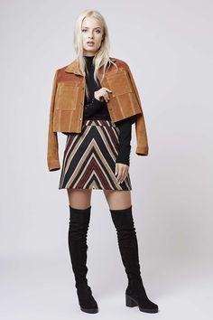 Photo 2 of '70s Chevron Mini Skirt