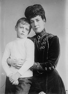 Queen Alexandra with her grandson Prince Olav (later The King of Norway).