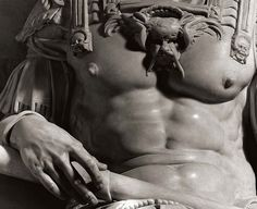 Detail of Michelangelo's Effigy in marble of Giuliano de' Medici, photo by Aurelio Amendola