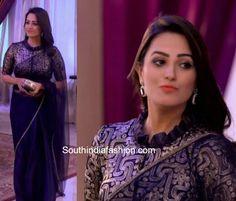 anita hassanandani high neck blouse yhm 2018