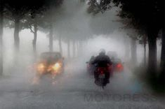 Every rider needs to be capable of handling themselves when the weather takes a turn for the worse. Use these tips for Riding Your Motorcycle in Heavy Rain. Hud Motorcycle Helmet, Motorcycle Events, Motorcycle Travel, Motorcycle Touring, Beginner Motorcycle, Rain Head, Road Markings, Safe Journey, Kids Canvas
