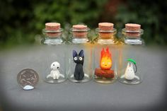 Studio Ghibli Critters in Bottles by KAkkoiITO.deviant on 2019 Studio Ghibli Critters in Bottles by KAkkoiITO.deviant on The post Studio Ghibli Critters in Bottles by KAkkoiITO.deviant on 2019 appeared first on Clay ideas. Sculpey Clay, Cute Polymer Clay, Cute Clay, Polymer Clay Charms, Polymer Clay Figures, Resin Charms, Clay Projects, Clay Crafts, Diy And Crafts