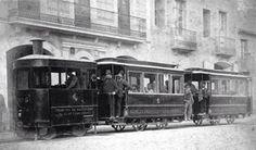 Tranvia de vapor. 1880. Sant Andreu Palomar. Barcelona. Catalunya. Espanya.