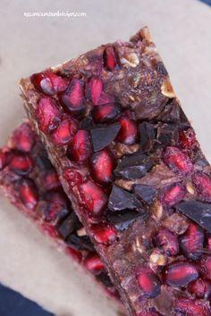 Raw Chocolate Pomegranate Protein Bars