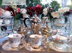 . High Tea, Beautiful Patterns, Afternoon Tea, All The Colors, Keep It Cleaner, Tea Time, Tea Party, Tea Cups, Table Settings