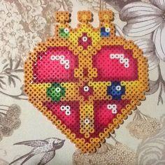 Sailor Moon cosmic heart perler beads by craftingtutorials24