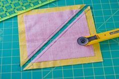 Flying Geese - Make 'em fast - this is the method that starts with TWO squares. Missouri Start Quilt Co using the Quilt In A Day Flying Geese Ruler