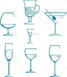 Set of symbols and icons glasses #GraphicRiver Vector illustration. It is created in the CorelDraw program. It is edited in the Adobe Illustrator program. It is kept in illustrator eps version 8. The file can be edited in any program of vector graphics. The size of the file can be increased till any size without quality loss. In this file there are no gradiyentny fillings and mesh. File full-color. The illustration can be used both entirely, and in parts. Created: 9July12…