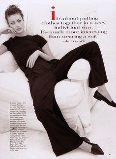 The Neo-Modernists Photo Steven Meisel Editor Grace Coddington Models Amber Vallette & Shalom Harlow