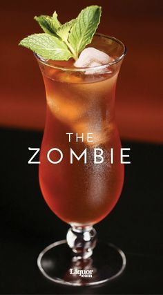 Classics You Should Know: The Zombie - Classics You Should Know: The Zombie Punch recipes The Zombie is the perfect warm weather sipper. This tropical drink by legendary Donn Beach of Don the Beachcomber restaurant kicked off the Tiki craze. Non Alcoholic Drinks, Bar Drinks, Cocktail Drinks, Beverages, Cocktail Night, Detox Drinks, Zombie Drink, Zombie Zombie, Zombie Apocalypse