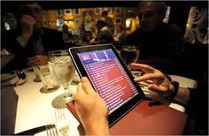 Choosing Wines at the Touch of a Screen