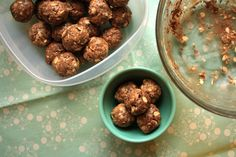 """Cookie Dough"" protein energy balls, yum!"