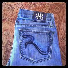 Rock & Republic Distressed Boot Cut Jeans Size 27 • ROCK & REPUBLIC • Kasandra • Distressed • Boot Cut • Jeans • Size 27 • Worn only a couple of times! • Excellent condition! • Smoke/Pet free home • Feel free to make an offer using the offer button • Rock & Republic Jeans Boot Cut