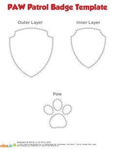 PAW patrol badge printable template