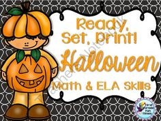 Halloween Ready, Set, Print! from First Grade Fun Times on TeachersNotebook.com -  (25 pages)  - Math, Reading and Writing Practice for Primary Grades - October themed