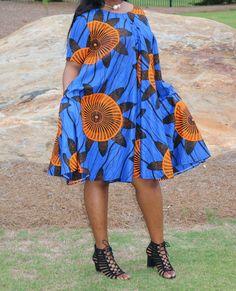 Swing dress/Dress/African Print Swing Dress/ Circle dress/Summer dress/Blue dress/African dress/African clothing/Ankara dress/African dress by KathyElegantFashion on Etsy https://www.etsy.com/listing/521132384/swing-dressdressafrican-print-swing