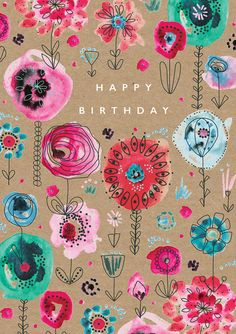 Leading Illustration & Publishing Agency based in London, New York & Marbella. Happy Birthday Flower, Happy Birthday Signs, Happy Birthday Sister, Happy Birthday Images, Happy Birthday Greetings, Birthday Pictures, 21 Birthday, Happy Birthday Friend Quotes, Birthday Humorous
