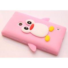 Lumia 520 vaaleanpunainen pingviini silikonisuojus. Nokia Lumia 520, Sunglasses Case, Hot Pink