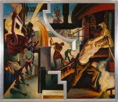 """Our """"Thomas Hart Benton's 'America Today' Mural Rediscovered"""" exhibition closes Sunday. """"America Today"""" ranks among Benton's most renowned works and is one of the most remarkable accomplishments in American art of the period. The epic ten-panel mural will reopen in Gallery 909 in the Museum's modern wing by the end of May."""