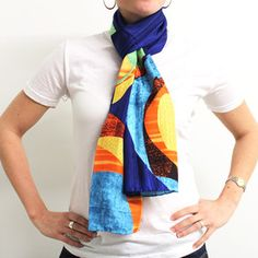 Wendel Silk Scarf now featured on Fab.