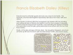 Dailey Family Tree - page 21 Francis Elizabeth Killey Widowhood & Death