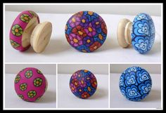 Polymer clay draw handles