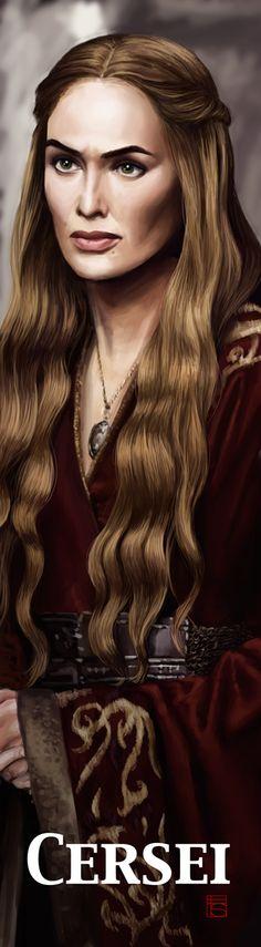 Cersei Bookmark by ~FloorSteinz