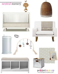 Love this modern, neutral, gender-neutral nursery
