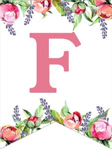 Make a custom flower banner for birthday parties, baby showers, or weddings. Free Printable Alphabet Letters, Alphabet Letters Design, Eid Crafts, Diy And Crafts, Floral Banners, Paper Trail, Girl First Birthday, Birthday Wishes, Birthday Parties