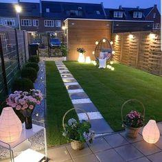 Backyard Patio Designs, Backyard Landscaping, Patio Ideas, Backyard Ideas, Back Gardens, Outdoor Gardens, Back Garden Design, Terrace Garden, Landscape Design