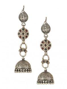 Oriental Silver Jhumkas