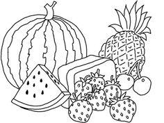 Aneka Gambar Mewarnai - Gambar Mewarnai Buah-buahan dalam ...