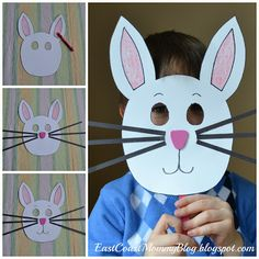 Bunny Mask {Preschool Craft}... with free downloadable template