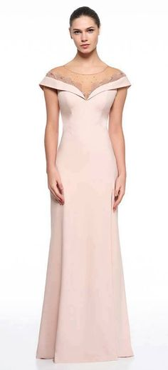 Vestido de festa nude … Cocktail Dresses Evening Wear, Evening Dresses, Mob Dresses, Girls Dresses, Party Gowns, Party Dress, Vestidos Mob, Plus Size Gowns, Mother Of Groom Dresses