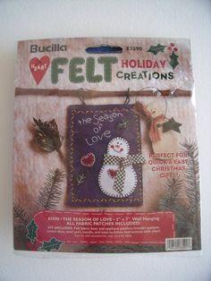 Craft Kit The Season of Love Bucilla Felt by SheilasBlessings