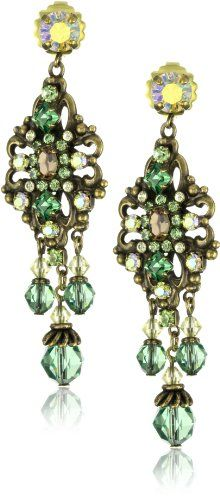 """Sorrelli """"Water Lily"""" Intricate Crystal Chandelier Gold-Tone Earrings"""