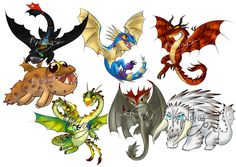 Water resistant shrink film key chains of the characters from the movie How To Train Your Dragon 2.