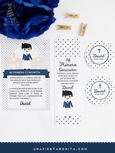 INVITACIÓN - PRIMERA COMUNIÓN - NIÑO MARINERO II - imprimible