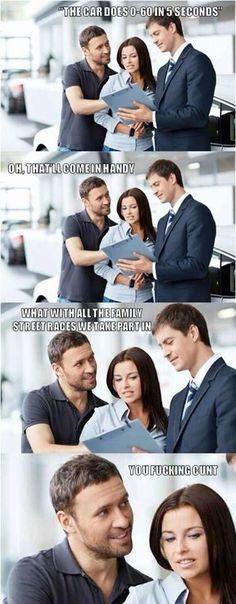 Scumbag car salesman