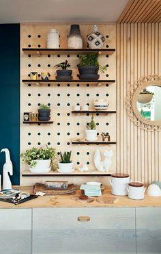 Wall shelves, kitchen pegboard, living furniture, home furniture, kitchen i Pegboard Craft Room, Pegboard Display, Pegboard Storage, Craft Rooms, Tool Storage, Ikea Pegboard, Painted Pegboard, Paper Storage, Craft Storage