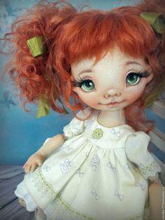 Куклы тыквоголовки ручной работы. Маруся. Текстильная кукла.. Елена Коннова (elenika-77). Ярмарка Мастеров. Кукла, тыквоголовка