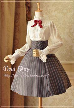 Dear Celine Autumn School Corset Skirt