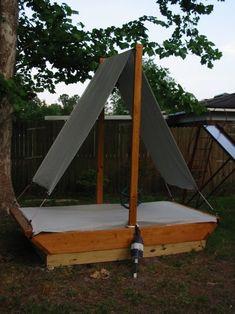 boat sandbox with shade :)