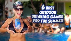 6 Outdoor Drinking Games...slip and slide flip cup had better be on the list :)