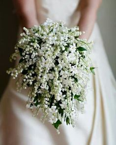 Lilly of the valley bouquet. annamaries birth flower its stunning :)