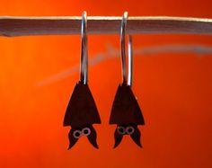 Bat Dangle Sterling Silver Earrings  Mini Zoo series by karramba